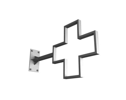 Надежный стальной каркас аптечного креста