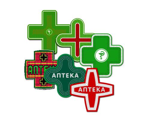 Разнообразие аптечных крестов