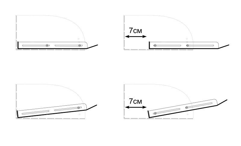 регулировка экранов для кондиционера